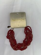 Accessories Red Beaded Ibiza Bracelet. Bohemian Style. 59% Discount. BNWT