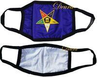 MASONIC OES Order of Eastern STAR BLUE FACE MASK  FREEMASON Washable Reusable