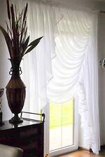 Moderne Fertiggardine aus Voile Balkon SET Schöne Gardine HG-KORA Weiß Balkontür