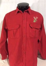 Vintage Red Cabela's Button Front Long Sleeve Shirt XL Made in the USA