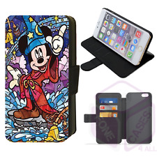 STAINED GLASS MICKEY MOUSE Sorcerer's Apprentice Flip Phone Case iPhone Galaxy