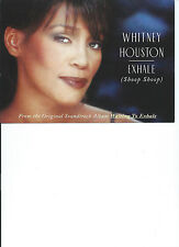 WHITNEY HOUSTON - EXHALE (SHOOP SHOOP) SINGLE A5 MAIL CARD FROM NOVEMBER 1995