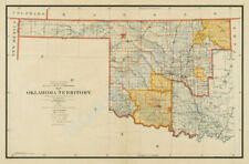 Map of Oklahoma Territory c1894 36x24