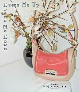 COACH Pink Ecru Leather Crossbody Shoulder Designer Bag Dustbag BRAND NEW