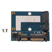 mSATA SSD Solid State Drive to 2.5'' SATA Adapter Card Half Height Converter