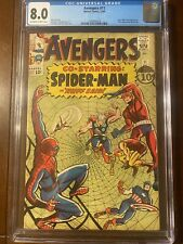 AVENGERS #11 12/64 CGC 8.0 OWW NICE HIGHER GRADE EARLY SPIDER-MAN CROSSOVER!