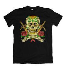 Día De Los Muertos Calavera Para Hombre Camiseta azúcar muertos Dia de los S-3XL