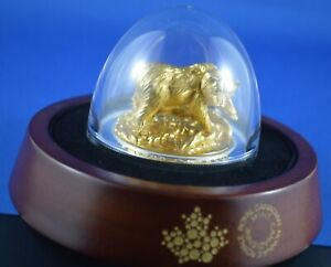 2017 Majestic Animals  $100 Coin Sculpture  - Grizzly - 10 Oz Silver - Gold  RCM