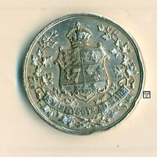 Canada 1927 Sterling Silver Medal 60th Ann. Rare Official issue ; 35mm ;Wt-31gr