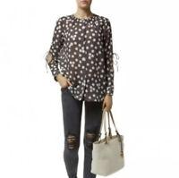 Escada Sport Women's Polka Dot Button Down Blouse Sheer Silk Blend, Size 36, S