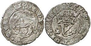 Ispain-Juan I (1379-1390). Blanca del Agnus Dei. Burgos. 1,4 g. Muy bella