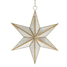 5 pointed Antique Star Glass Light Battery operated Hanging Ceiling Pendant Lamp