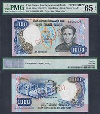 1975 SOUTH VIETNAM 1,000 1000 DONG A1 000000 P-34As | PMG 65 EPQ *SPECIMEN* NR
