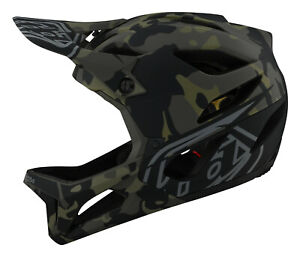 Troy Lee Designs Stage Bicycle BMX/MTB Helmet w/MIPS Camo - Olive
