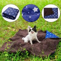 Dog Cat Puppy Pet Plush Blanket Mat Thick Soft Warm Sleep Bed Mat Cushion Large