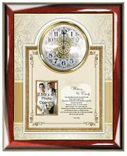 Romantic Personalized Love Poem Picture Frame Gift Clock Photo Plaque Birthday