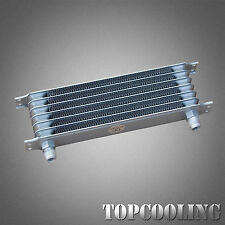7 Row AN-10 AN Aluminum Engine Transmission Oil Cooler Silver Unviersal