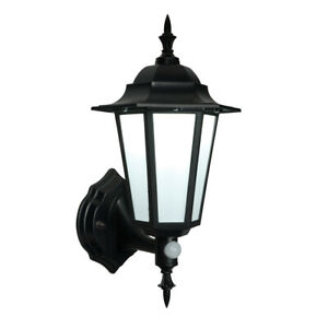 Saxby Outdoor Security 7W LED Traditional PIR Wall Lantern Black IP44 400LM