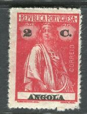 PORTUGUESE ANGOLA;  1914-20s early Ceres issue fine Mint hinged 2c. value