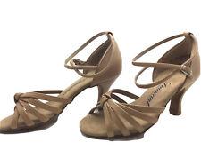 Chaussure de danse de salon pour femme:diamant couleur: beige taille:34