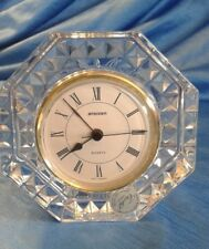 Vintage STAIGER CRISTAL FRANCE Crystal Clock Quartz Movement W.Germany 24% Lead