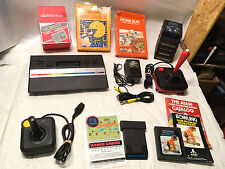 1987 ATARI 2600 VCS Jr Junior Console System LOT +10 Games 2 Joysticks WICO Nice