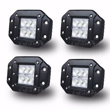 "4 CREE 4"" 24W LED Work Light  Bar Cube Flush Mount Offroad SUV 4X4 ATV UTE Flood"