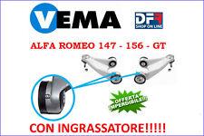 2 BRACCI SOSPENSIONE ANTERIORI SUPERIORI MODIFICATI ALFA ROMEO 147 156 GT VEMA