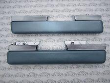 1963 1964 Buick Riviera Chrome Arm Rests  | Pair | Correct Grain - Blue