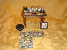 Dollhouse miniature witch wicca pagan table alter Furniture accessories Lot