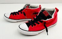 Converse Men's Chuck Taylor All Star Street Mid Casual Red/Black Sneakers sz6