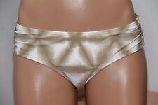 NWT Michael Kors Swimsuit Bikini Bottom Size S Shirred Hipster Sand