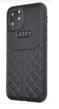 AUDI Q8 series D1 Genuine Leather Back Cover Case for iPhone 11 Pro - Black