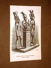 Gravure année 1873 Isis, Osiris et Horus - Musée du Louvre