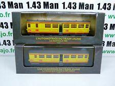 Lot 5AM AM11+12  2 Automotrices SNCF 1/87 HO : Auto Train jaune z105+ zr 20001