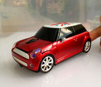 3D Mini Cooper car 2.4Ghz Wireless Mouse Cordless Optical PC Laptop Mice +USB US