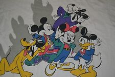 Vintage OG Disney Sleep Shirt Pajamas Mouse Ears Goofy Donald Pluto 90s OSFA