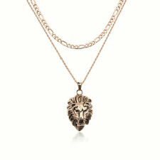 Head Pendant Necklace Chain Fashion Gift Alloy Punk Rock Stainless Steel Lion