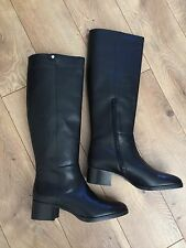 New JCrew $298 Leather Knee Boots Sz 9.5 Black F4980 Regular Calf SOLD-OUT!