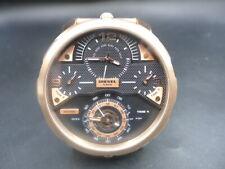 New Old Stock DIESEL Machinus DZ7380 4 Time Zones Daydate Quartz Men Watch