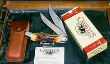 """Camillus 26 Folding Bowie Knife Stainless 1980's 5"""" Closed W/Original Packaging"""