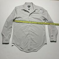 Calvin Klein Mens Dress Shirt Slim Fit Long Sleeve Size 15.5 x 32/33 Gray
