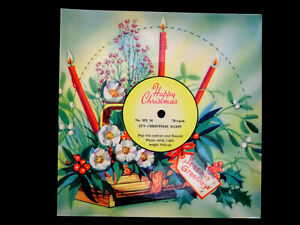 VINTAGE 1950's MELODY CHRISTMAS CARD MX16 PLAYABLE 78rpm 'IT'S CHRISTMAS AGAIN'