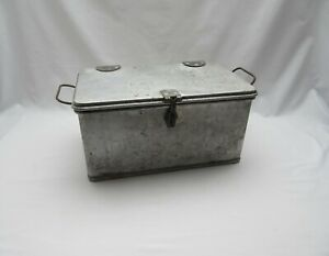 Vintage 1946 Bulpitt robust lockable aluminium catering ? or storage box