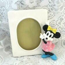 More details for vintage disney minnie mouse porcelain ceramic photo frame - japan
