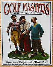 The Three Stooges Golf Master TIN SIGN funny bar pub wall decor metal poster 696