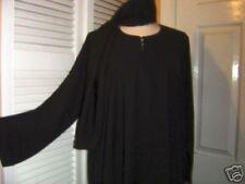 Taglia 60 NERO Jilbab Abaya l'hijab l'Islam Niqab Abito arabo kaftan saudita Dubai morbido