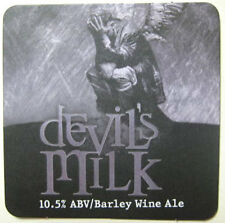 DEVIL'S MILK ALE Beer COASTER, Mat, DuClaw Brewing, MARYLAND 2011 issue