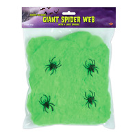 (12) Giant Spider Web slime green 4–2 spiders included