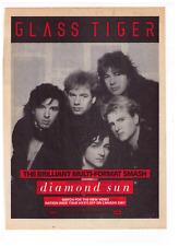"1988 Glass Tiger ""Diamond Sun"" Vintage Canadian Trade Print Advertisement"